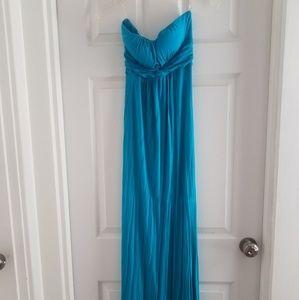 Twenty one blue strapless dress